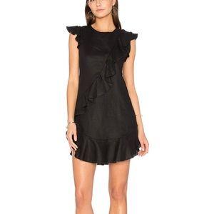 Karina Grimaldi Anthony Ruffle Mini Dress